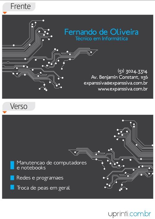 Cartões De Visita Para Informática M9773 Uprinti