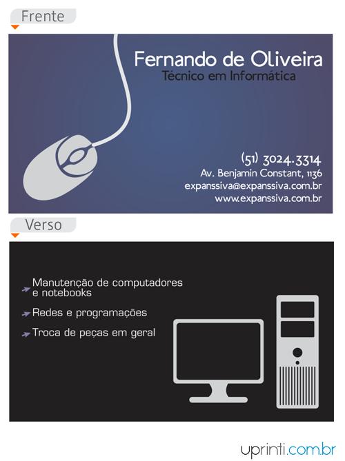 Cartões De Visita Para Informática M9793 Uprinti